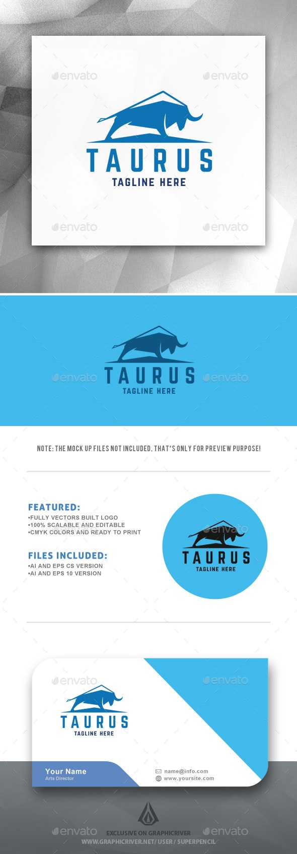 Taurus Logo - Animals Logo Templates