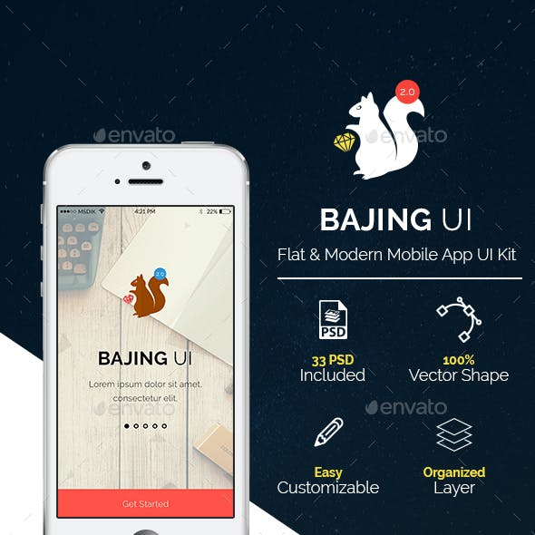 Bajing UI - Mobile App UI Kit v2.0