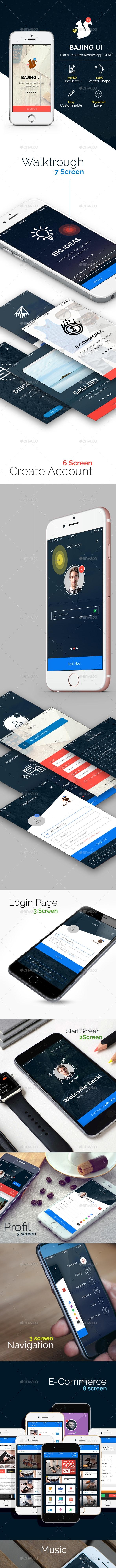 Bajing UI - Mobile App UI Kit v2.0 - User Interfaces Web Elements