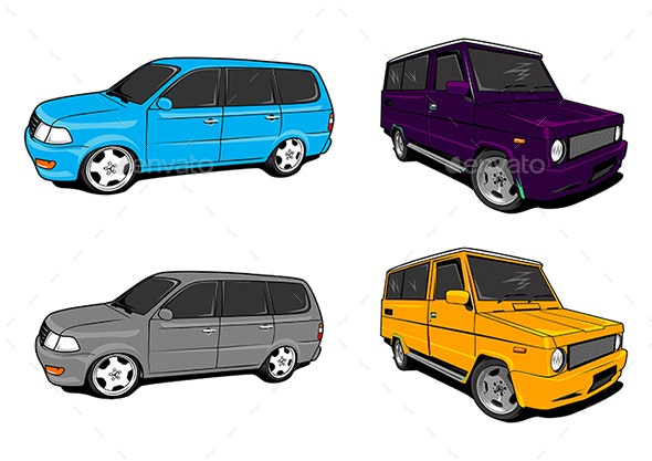 Cars Vector Art - Man-made Objects Objects