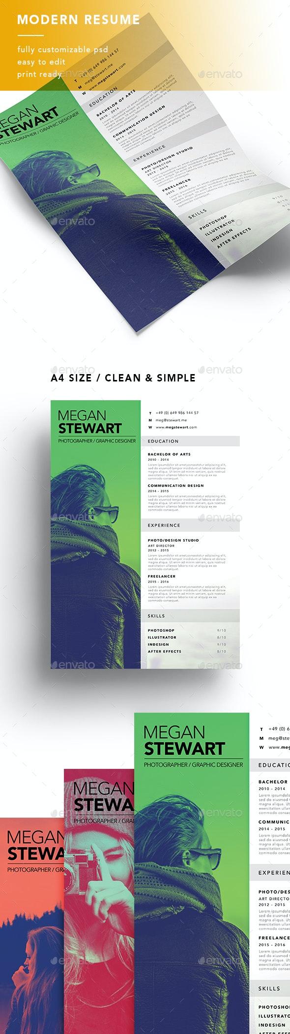 A4 Modern Resume - Resumes Stationery