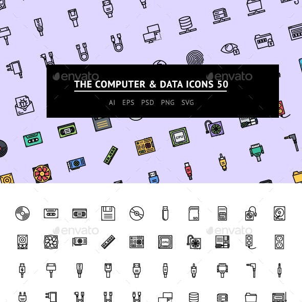 The Computer & Data Icons 50