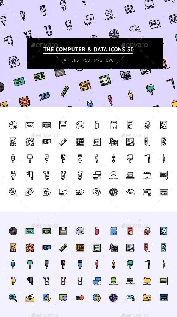 The Computer & Data Icons 50 - Web Icons