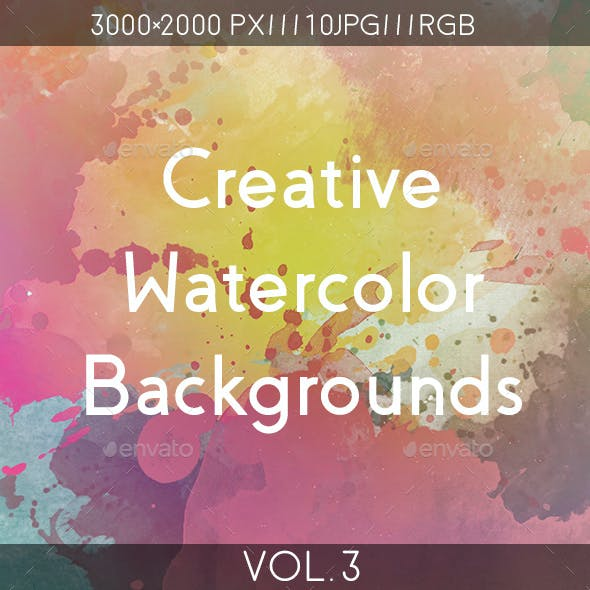 Creative Watercolor Backgrounds Vol.3