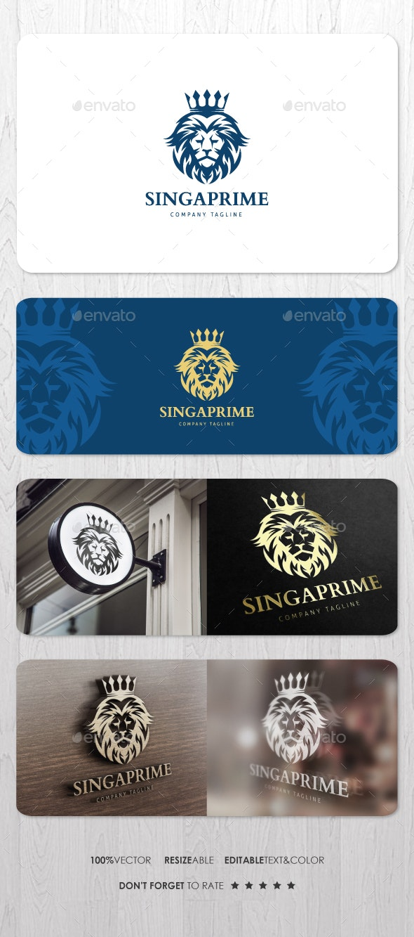 Singa Prime Logo - Animals Logo Templates