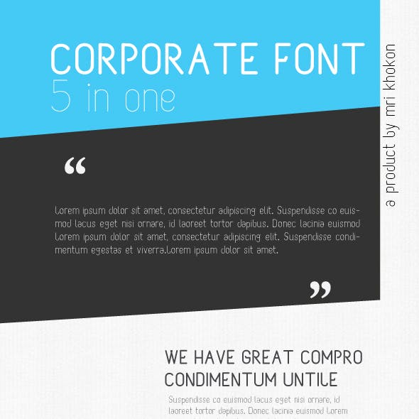 Corporate M Font
