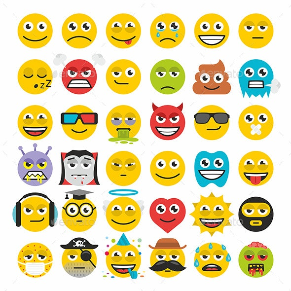 Set of Emoticons - Miscellaneous Characters