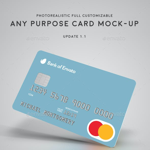 Credit / Bank / Gift / Discount / Club Card Mock-Up