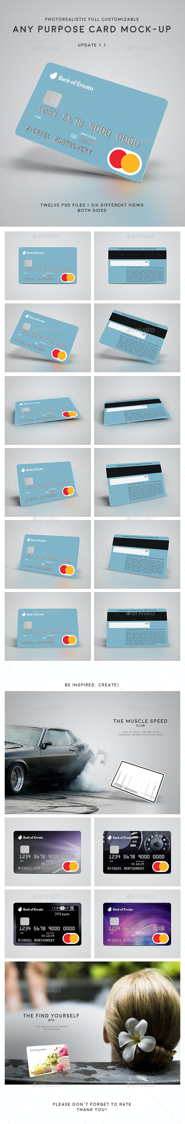 Credit / Bank / Gift / Discount / Club Card Mock-Up - Miscellaneous Print