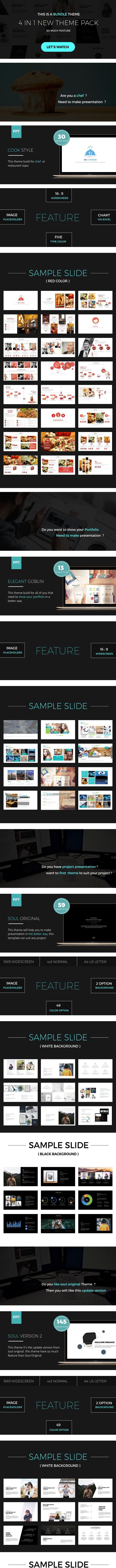 4 Presentation Bundle - Creative PowerPoint Templates