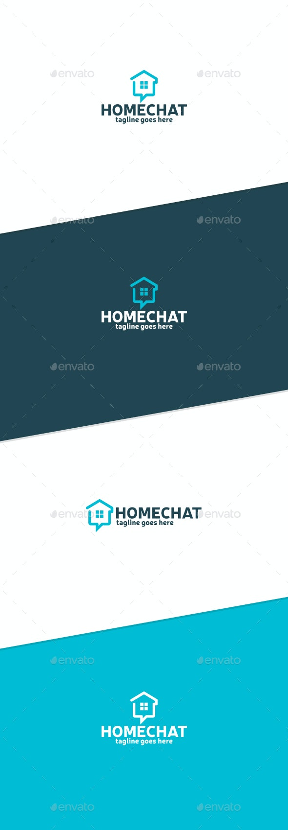 Home Chat Logo - Buildings Logo Templates