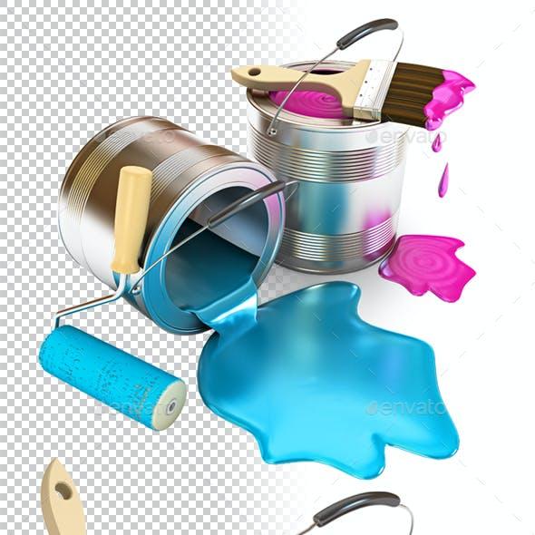 Construction Supplies. 3d render.
