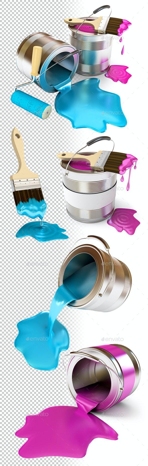 Construction Supplies. 3d render. - Miscellaneous 3D Renders