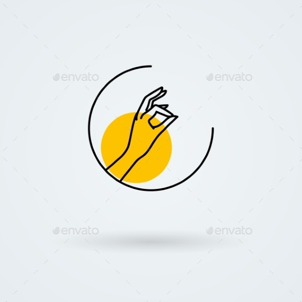 Vector Icons With a Graceful Female Hand In a - Nature Logo Templates