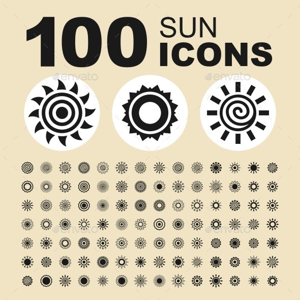 Sun vector icons - Abstract Icons