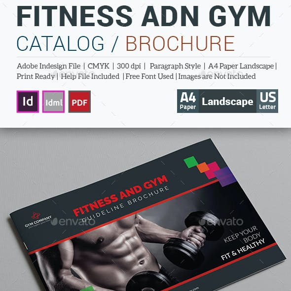Fitness and Gym Guideline Brochure Template