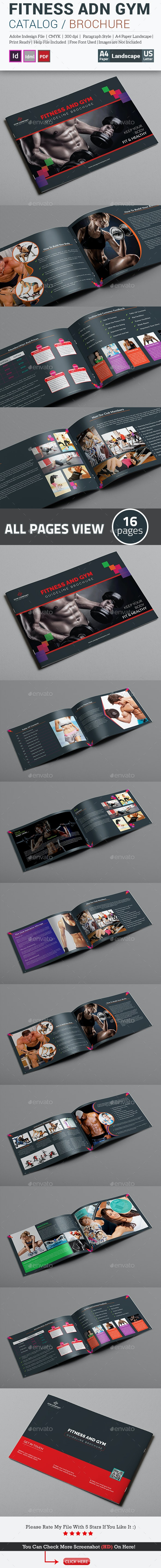 Fitness and Gym Guideline Brochure Template - Catalogs Brochures