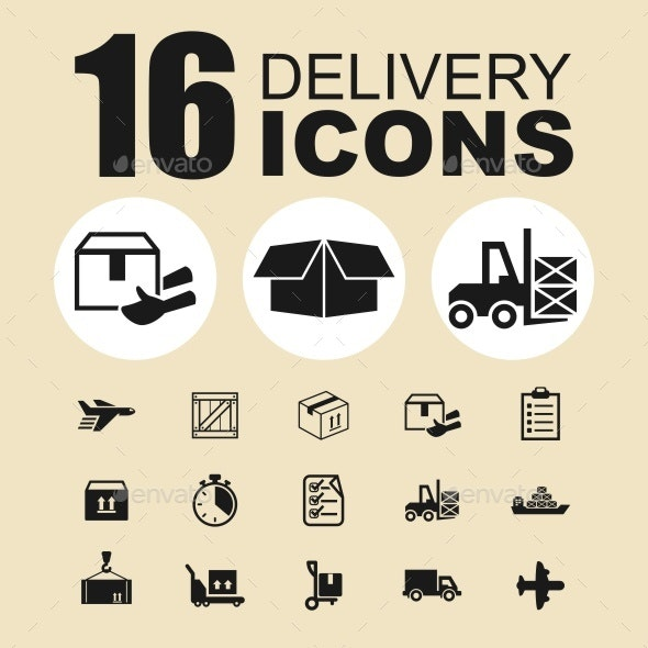 Delivery vector icons - Abstract Icons