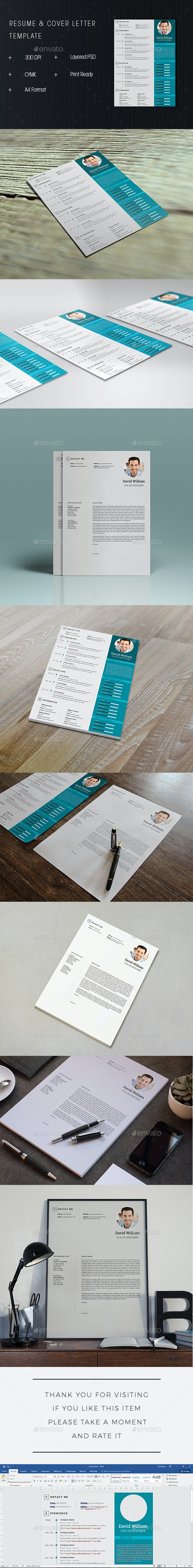 Resum Template & Cover Letter - Resumes Stationery