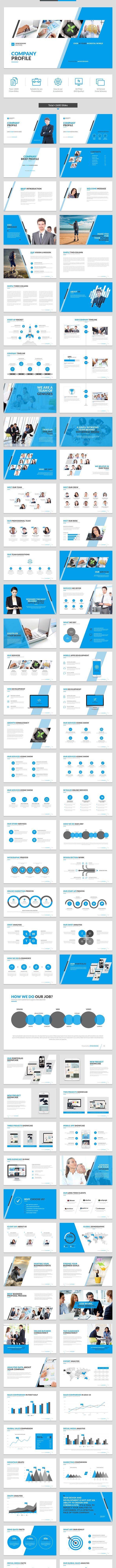 Company Profile Keynote Template - Business Keynote Templates