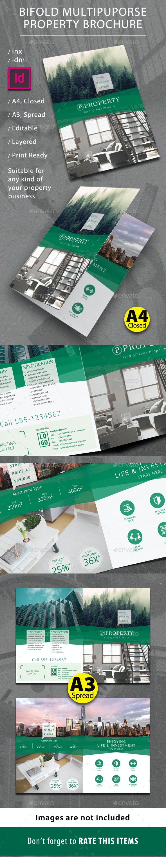 Bifold Property Brochure - Brochures Print Templates