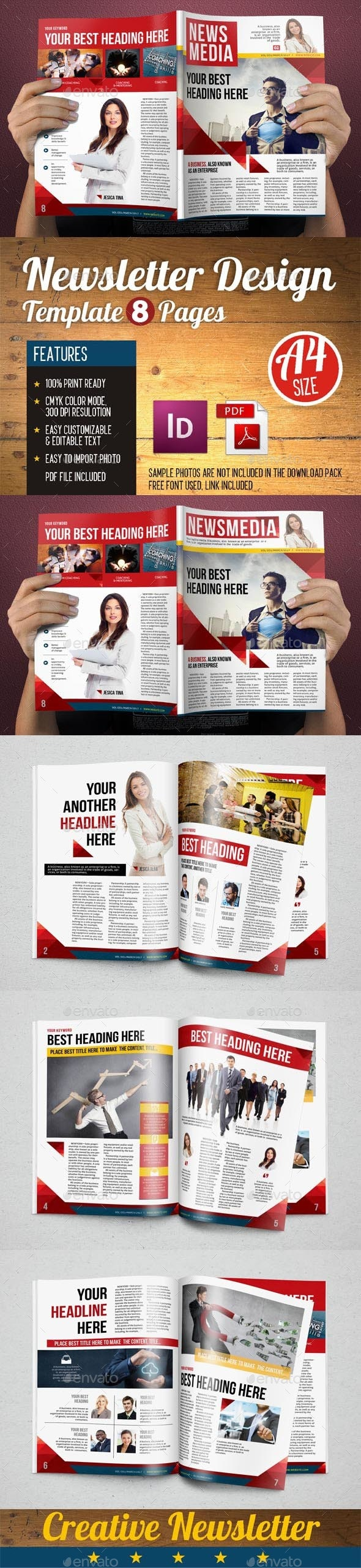 Newsletter Design Template vol 5 - Newsletters Print Templates