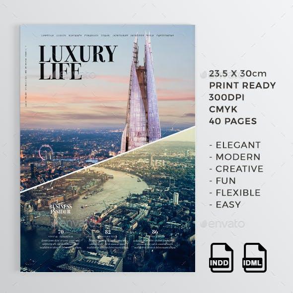 Luxury Life | 40 Pages Magazine