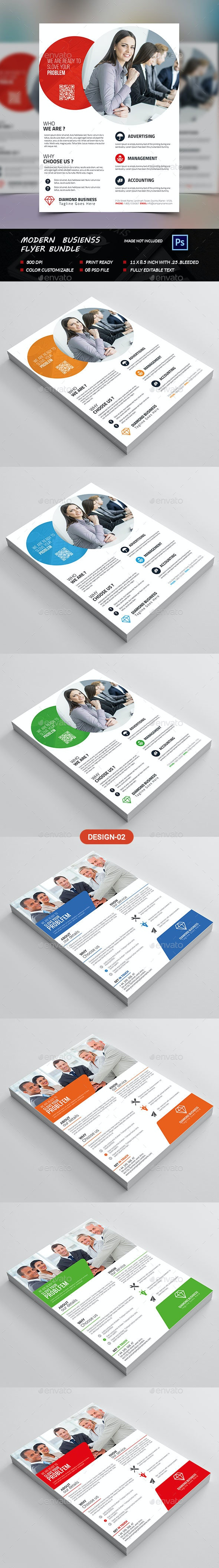 Modern Business Flyer Bundle - Flyers Print Templates