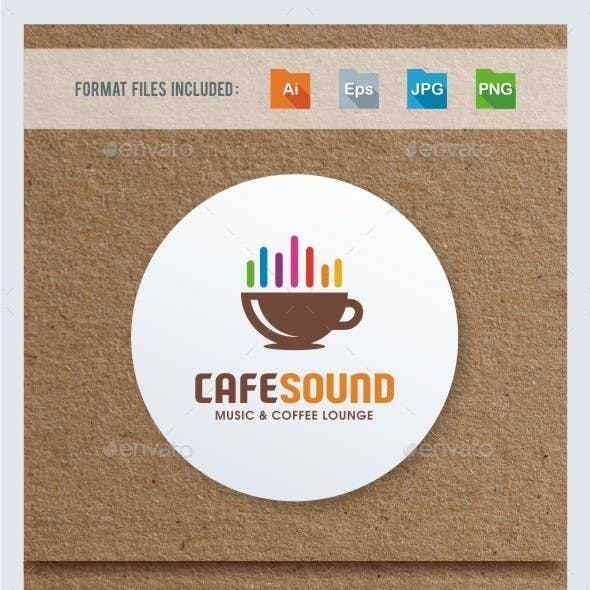 Cafe Sound Logo Template