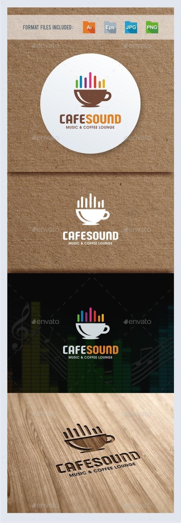 Cafe Sound Logo Template - Symbols Logo Templates
