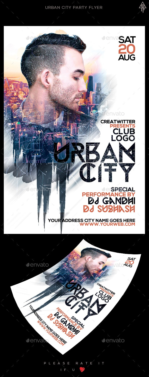 Urban Guest Dy Flyer - Clubs & Parties Events