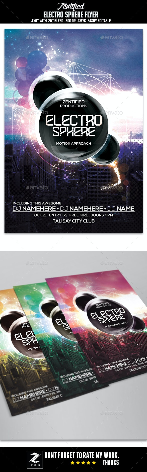 Electro Sphere Flyer - Events Flyers