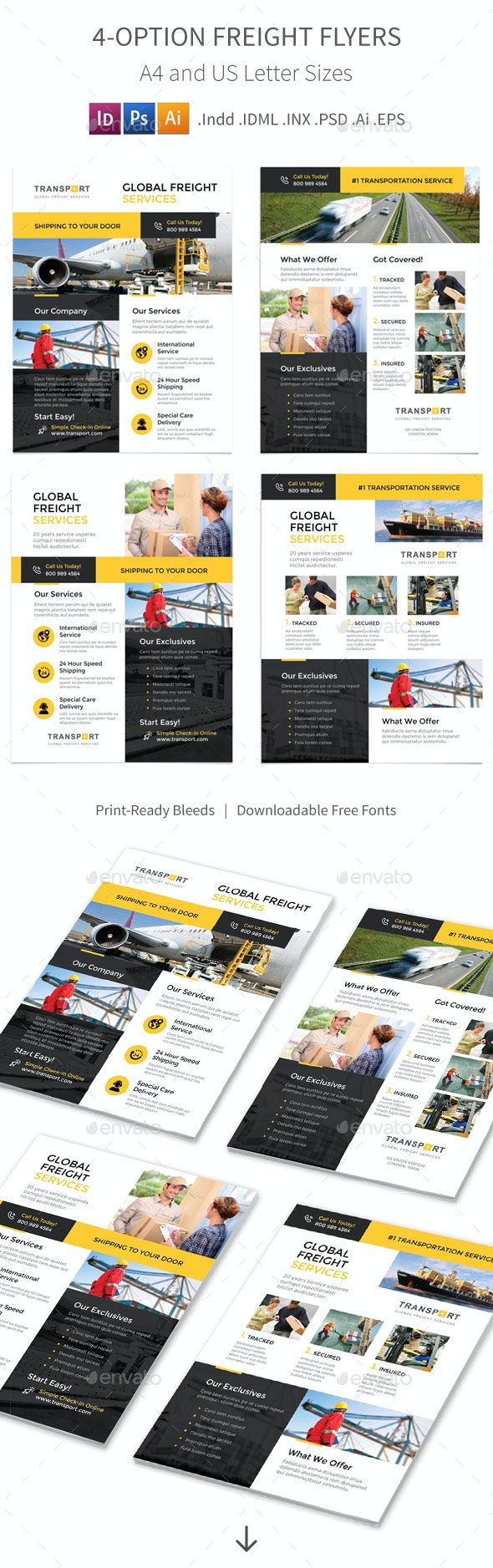 Freight Flyers – 4 Options - Corporate Flyers