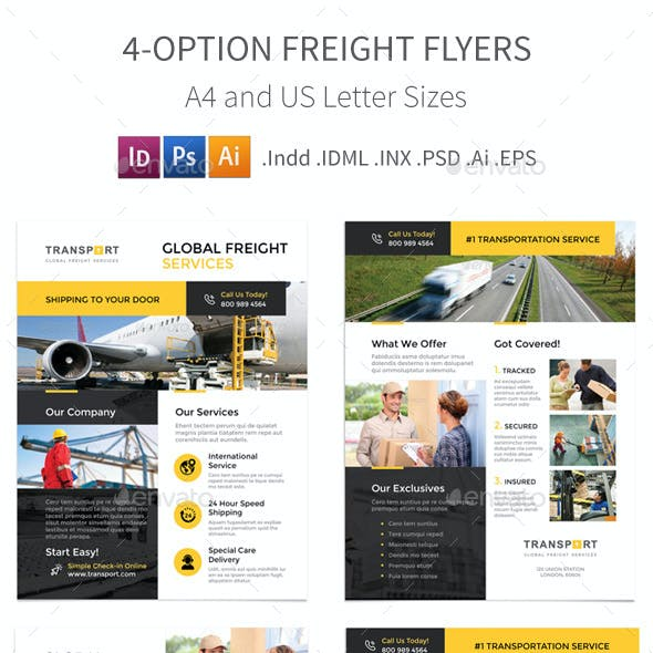 Freight Flyers – 4 Options