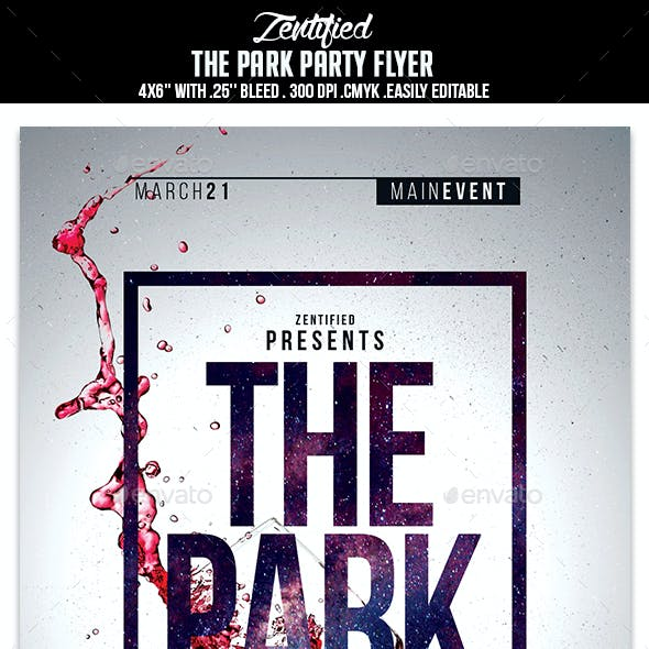 The Park Party Flyer