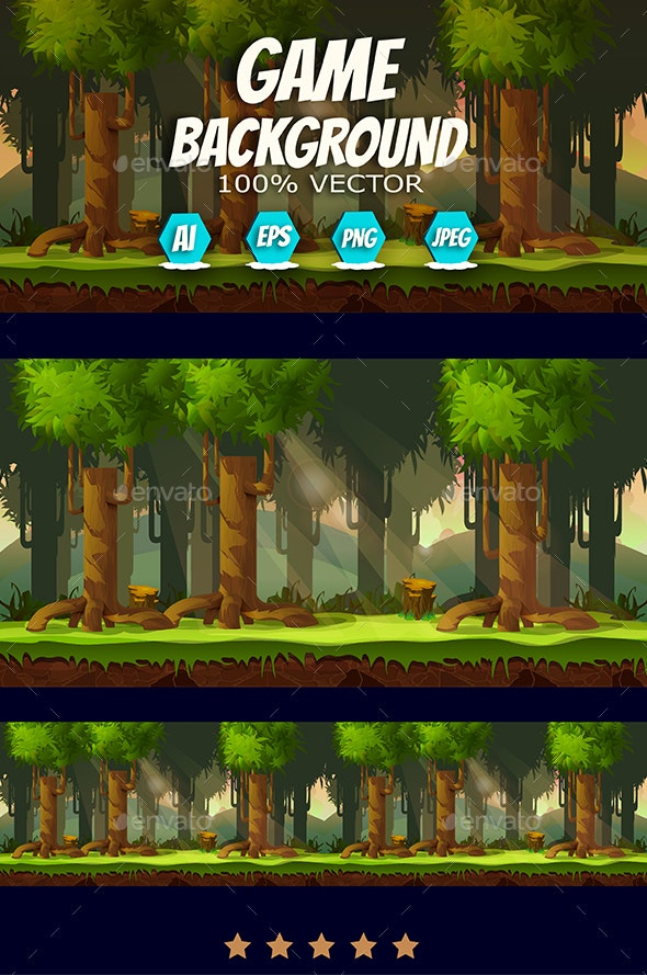 Forest Game Background - Backgrounds Game Assets
