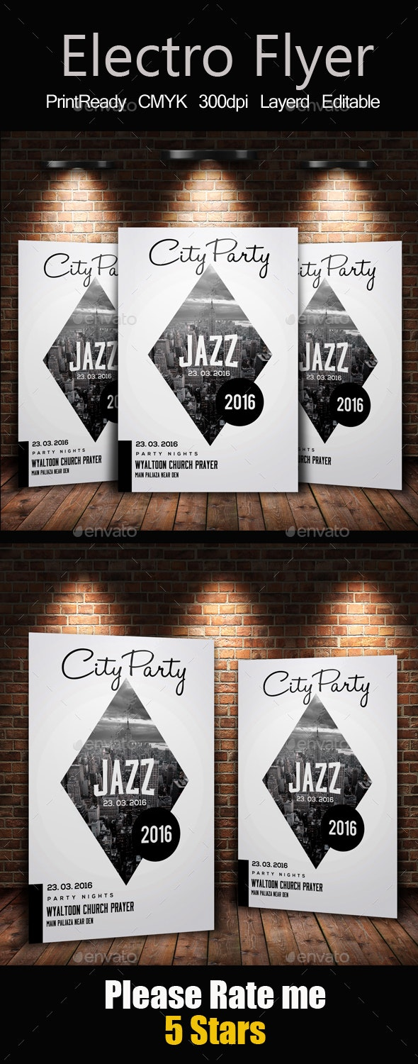 City Party Flyer Template - Clubs & Parties Events