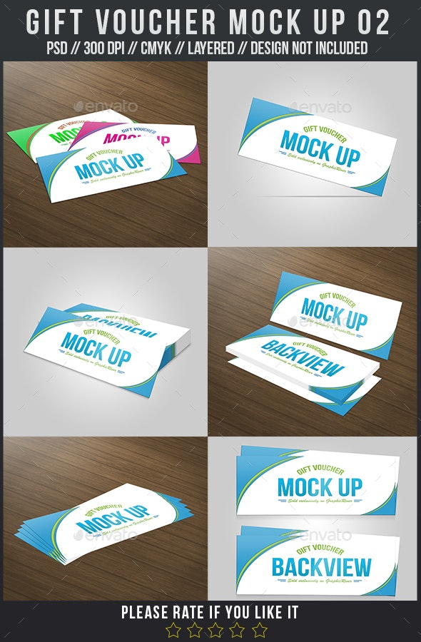 Gift Voucher Mock Up 02 - Miscellaneous Print