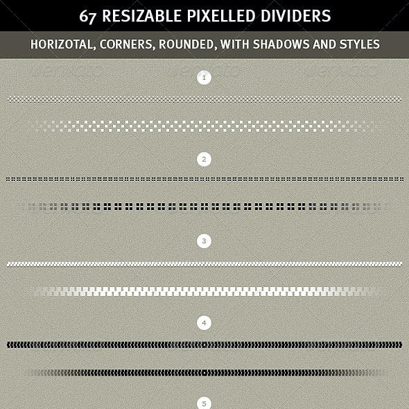 67 Pixelled Resizable Dividers