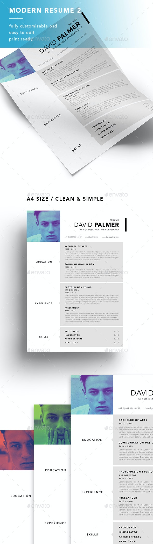 A4 Modern Resume 2 - Resumes Stationery