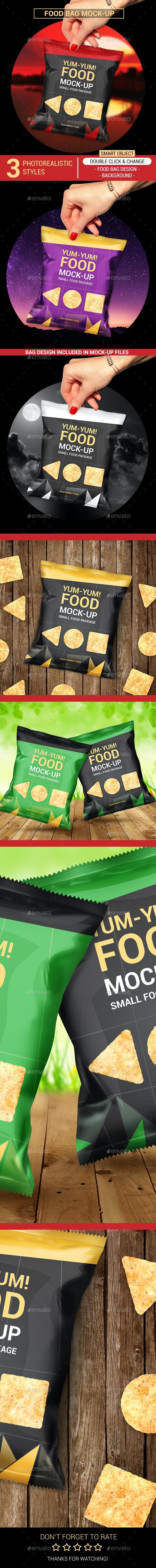 Food Bag Mock-Ups - Food and Drink Packaging