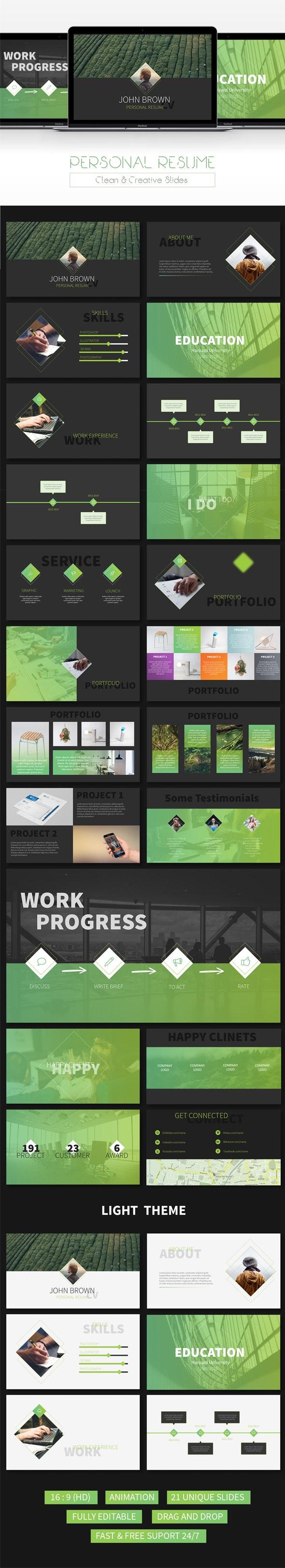 Resume - Creative Powerpoint Template - Creative PowerPoint Templates