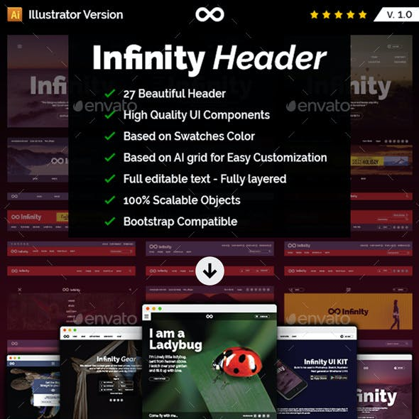 Infinity Header - UI Kit