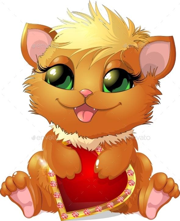 Cat and Heart - Birthdays Seasons/Holidays