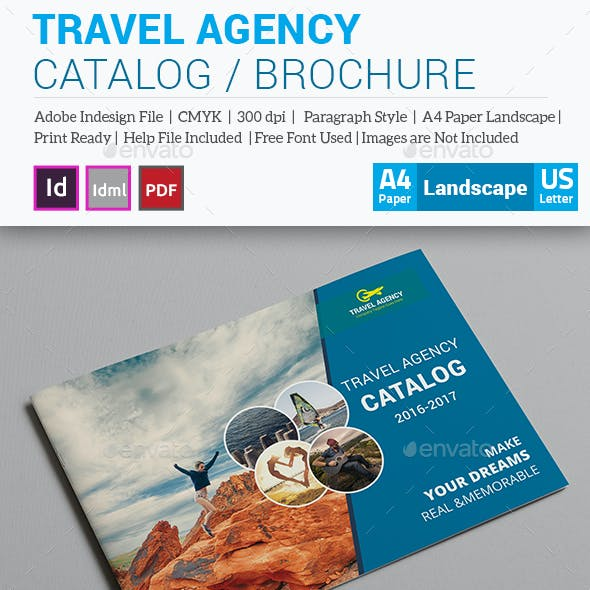 Travel Agency Brochure / Catalog Template