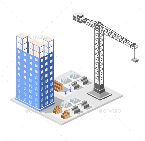 Industrial Construction Isometrics - Buildings Objects