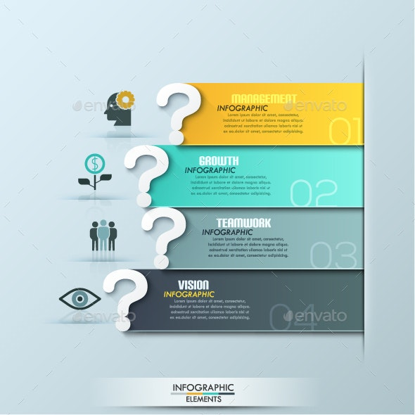Questions Infographic Template - Infographics
