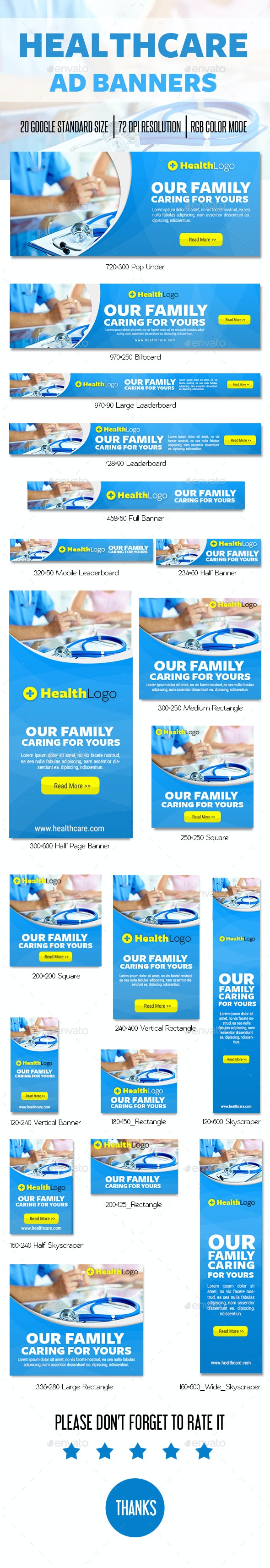 Healthcare Ad Banner - Banners & Ads Web Elements