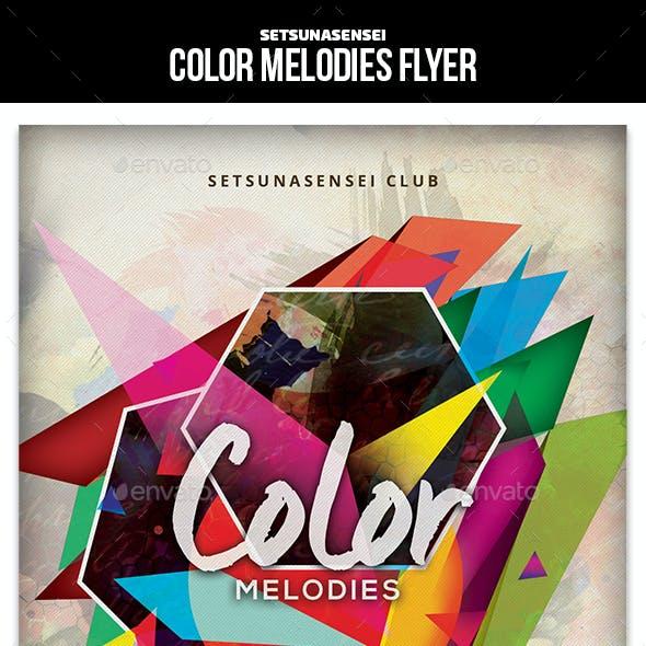 Color Melodies Flyer