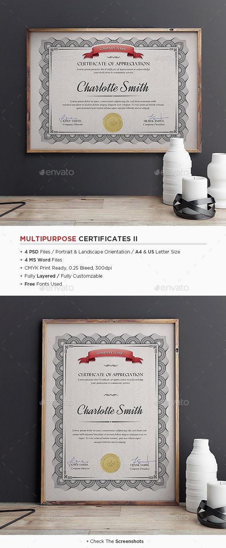 Multipurpose Certificates II - Certificates Stationery